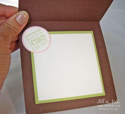 Cupcake Card Inside
