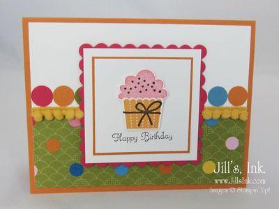Create a Cupcake Pompom Card