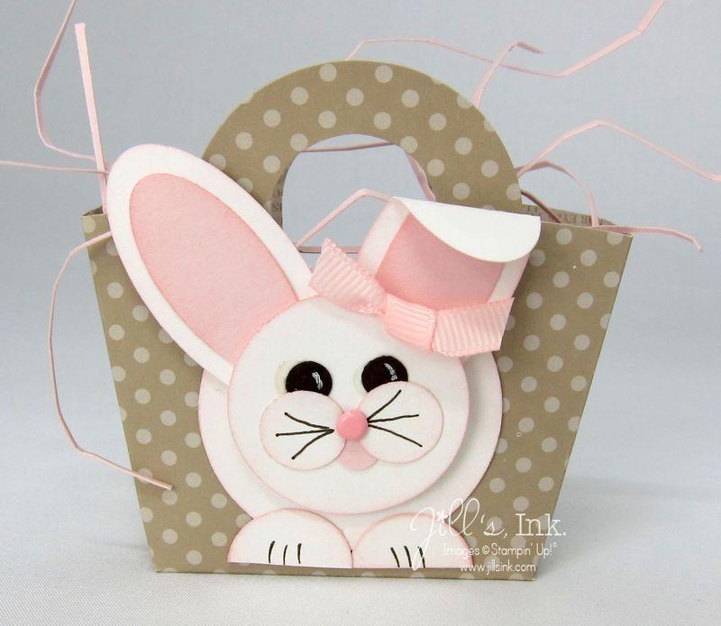 Mini Basket & Blooms Bunny 001