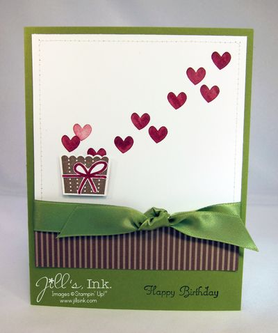 Bucket Of Hearts Birthday Card