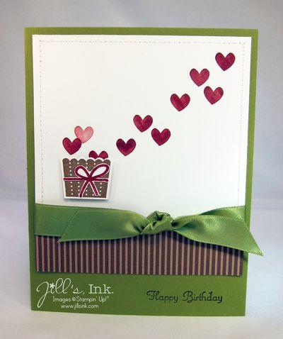 Create a cupcake birthday card jills ink bucket of hearts birthday card bookmarktalkfo Image collections