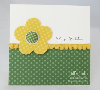 Designer Fabric Brad Card 003