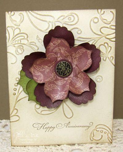 Fun Flowers Anniversary Card 3