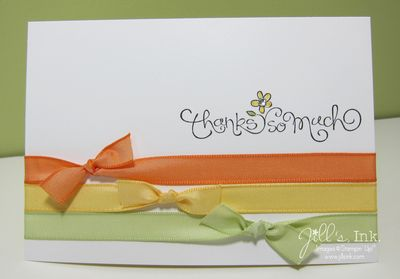 Swirls & Curls Verses Thank You Card
