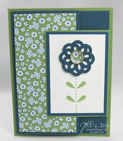 Bold Blossom Tri-Fold Card