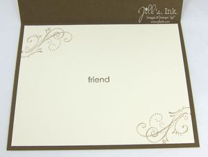Priceless Butterfly Card - Inside