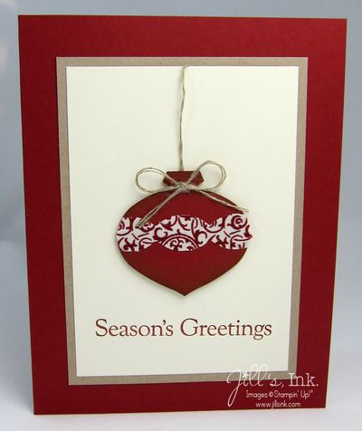 Deck the Halls Ornament Card