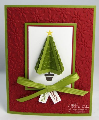 Pennant Parade 3-D Tree Card