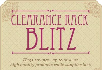 Clearance Rack Blitz 2011