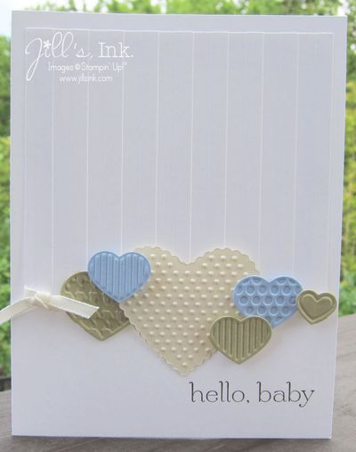 Fashionable Hearts Baby Card 001