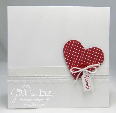 Needlepoint Border Heart Card