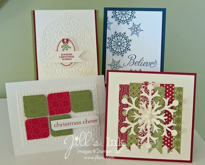 2012 Christmas Stamp-A-Stack Cards