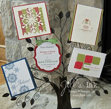 Christmas Stamp a Stack Cards 2