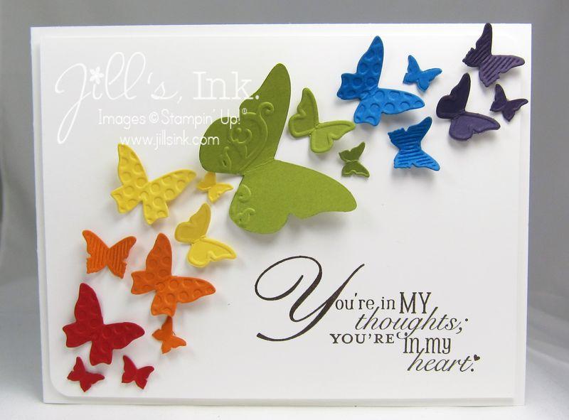 Beautiful Wings Rainbow Card