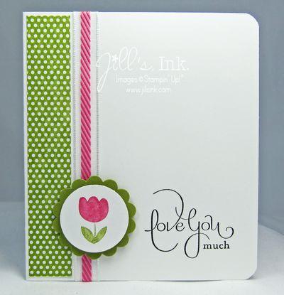 Spring Sampler Love You Card