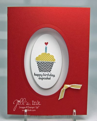 Patterned Occasions Cupcake Red