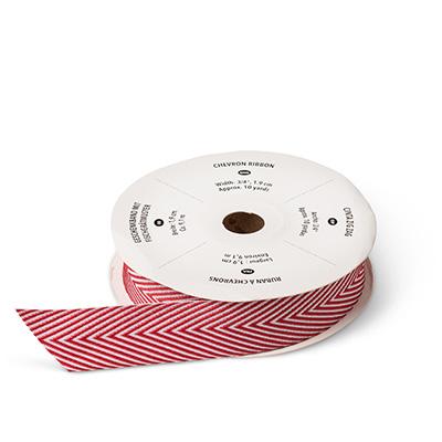 Cherry Cobbler Chevron Ribbon Image