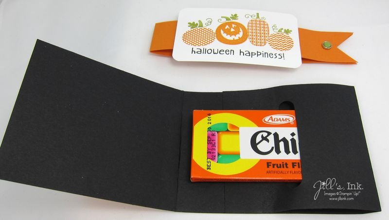 Halloween Happiness Chiclets Holder Open