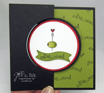 January Make n Take Card - Olive You