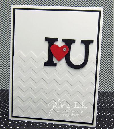 January Make n Take Card - I heart U