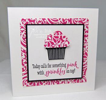 Create a Cupcake Pink Card