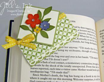 Corner Bookmark Card on Book