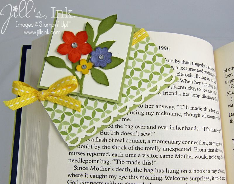 Corner Bookmark Card on Book