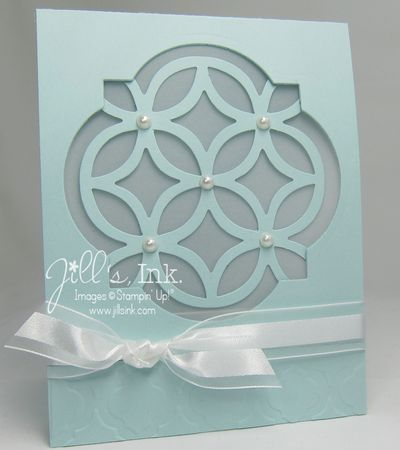 Lattice Window Card Wedding Card