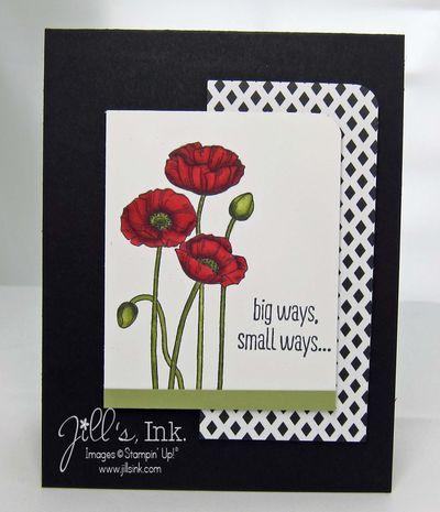 Pleasant Poppies Stamp Club  Card