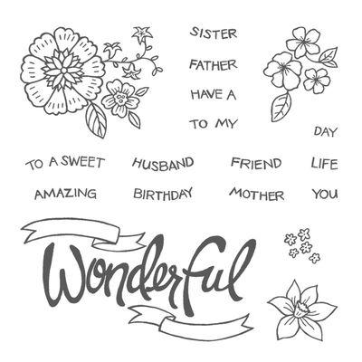 You're Wonderful Stamp Set Image
