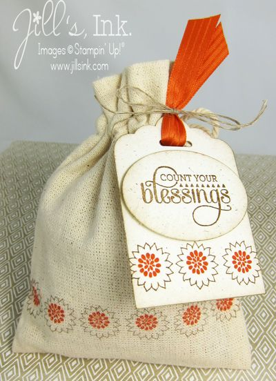 Muslin Bag Thanksgiving Favor