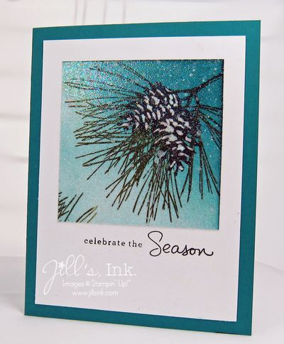 Irridescent Ice Ornamental Pine Card 007