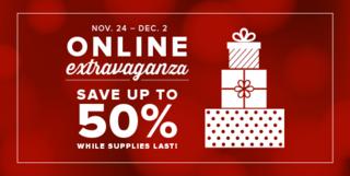 2014 Online Extravaganza 50% Header