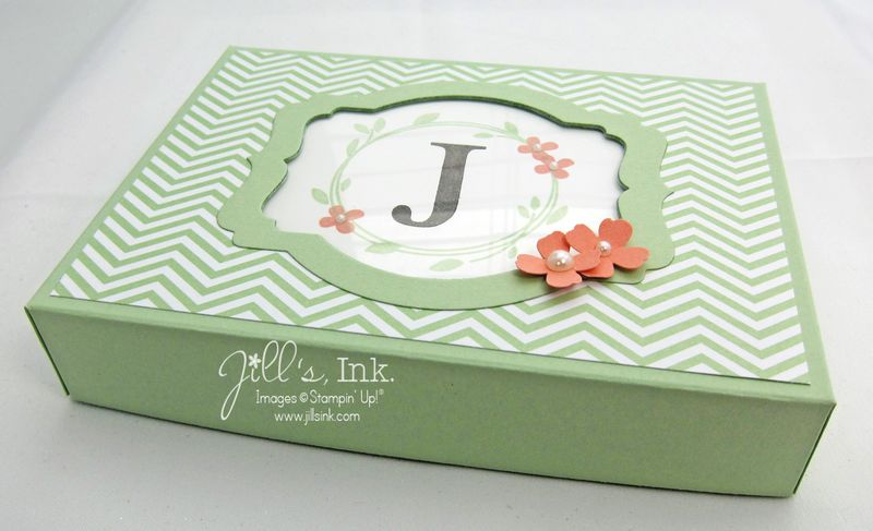 Monogram Notecard Box 006
