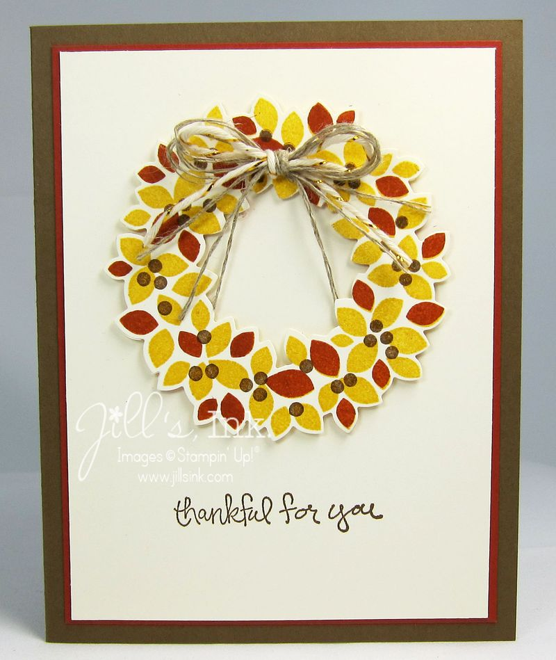 Wonderful Wreath Thankful Card