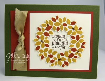 Wonderful Wreath Autumn Card