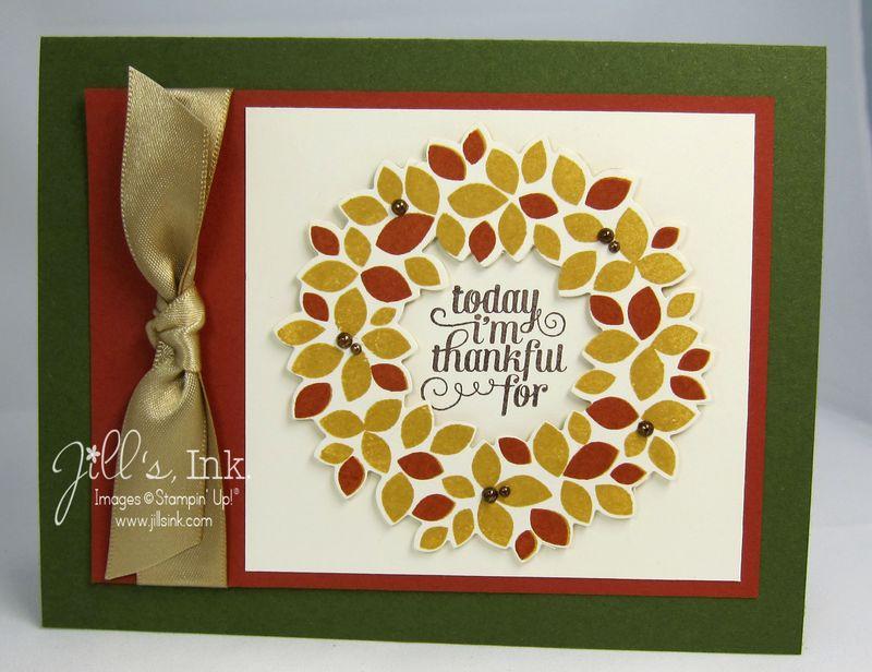 Wonderful Wreath Autumn Card