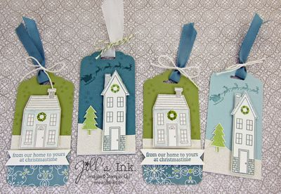 Holiday Home Christmas Tags