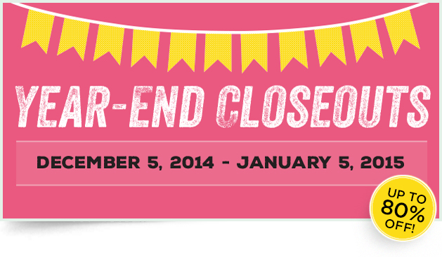 Year End Closeouts Header