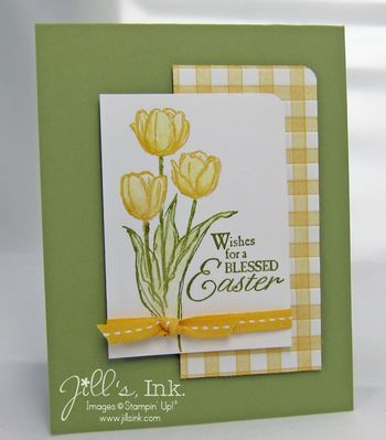 Blessed Easter Faux Gingham Card