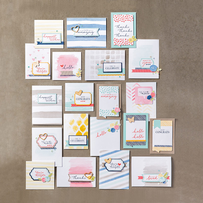 Watercolor Wishes Card Designs