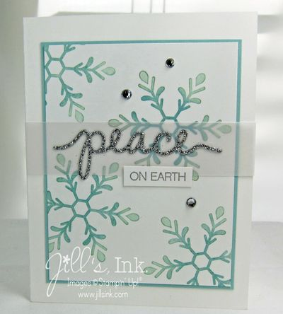 Peaceful Snowflakes SAS Card copy
