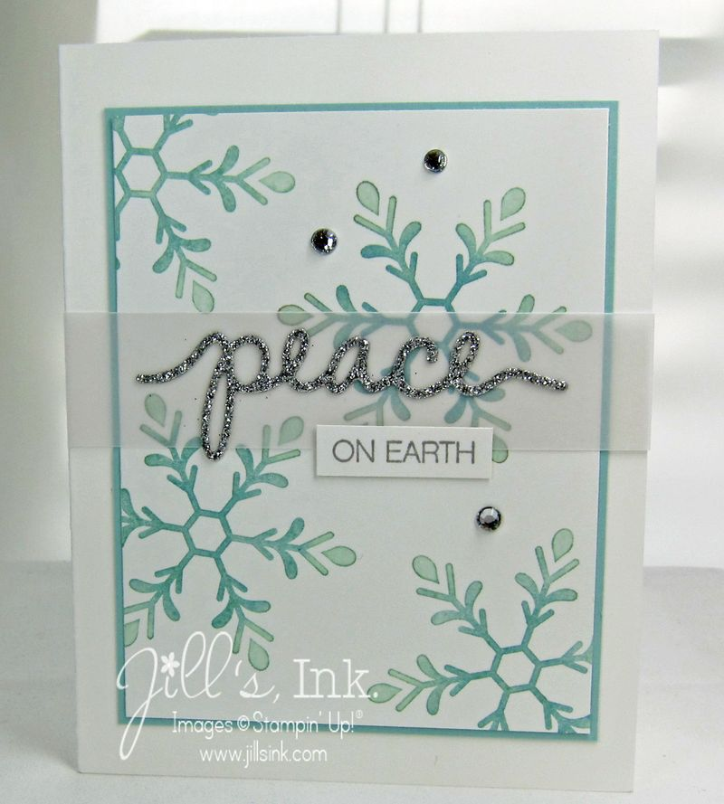 Peaceful Snowflakes SAS Card copy