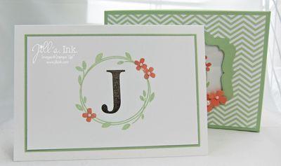 Monogram Notecards & Box 003